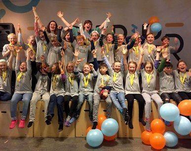 5 .trinn ved Haukås skole i Bergen vant gull i temaklassen om mat i «Årets Nysgjerrigper 2016» Foto: Øyvind Ganesh Eknes.